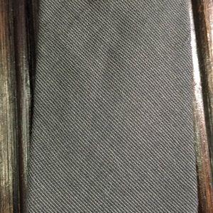 J Crew skinny gray cotton tie